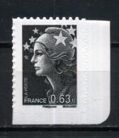 """ADHESIF N° 926 MARIANNE DE BEAUJARD 0,63e En NOIR Et BLANC DU CARNET """" La République Au Fil Du Timbre NEUF ** - 2008-13 Marianne De Beaujard"""