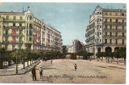 Tarjeta Postal De Alger. Hotel Y Rue. - Argelia
