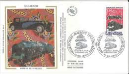 Enveloppe FDC Soie - Musées Techniques - Mulhouse - 1986 - 1980-1989