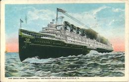 """Postcard (Ships) - The Great Ship """"Seeandbee"""" Between Buffalo And Cleveland - Passagiersschepen"""