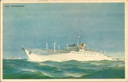 Postcard (Ships) -  M/S Stockholm Swedish American Line (Svenska Amerika Linien) - Altri