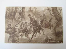 AK / Bildpostkarte 1. Weltkrieg Gemälde / Bild / Künstlerkarte Soldaten Im Kampf Stempel: Puschdorf 1916 Echt Gelaufen! - Ostpreussen