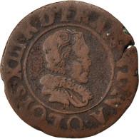[#32258] Louis XIII, Double Tournois, Riom - 1610-1643 Louis XIII Le Juste