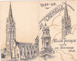 Rennes 35 Bretagne France Carte Ecole Guerre 1939 1945 Eleves Maitresses Bac Résisitance ? 1942-45 La Guerche Caravelle - Vieux Papiers