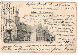 CPA Brandenburg Rathhaus Gruss Aus  Brandebourg Allemagne Deutschland - Brandenburg