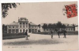 CPA 74 ANNECY. Le Haras Avec Cavalier 1915 !!achat Immédiat - Annecy