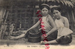 ASIE - CHINE - INDOCHINE- TONKIN- LES DEUX AMIES  FEMME - EDITEUR DIEULEFILS HANOI N° 3036 - Chine