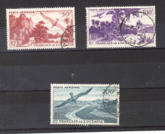 N°  PA  26 27 28  Oblitéré  Vues - Océanie (Établissement De L') (1892-1958)