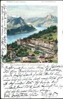 AK/CP  Litho  Rigi Kaltbad  Eisenbahn   Luzern     Gel./circ.  1902   Erhaltung/Cond. 2-    Nr. 7586 - LU Lucerne