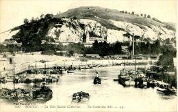 N°36564 -cpa Rouen -la Cote QSte Catheriene- Remorqueurs, Péniches- - Remorqueurs