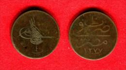 OTTOMAN - EGYPTE - EGYPT- MISR - ABDUL AZIZ - 40 PARAS 1277 - Egipto