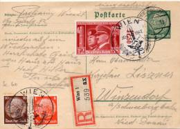 AUTRICHE ENTIER POSTAL RECOMMANDE WIEN 1941 - Ganzsachen