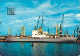 Postcard (Ships) - MS Bernhard Bastlein Trockenfrachter (Dry Cargo Vessel) DSR Lines - Handel