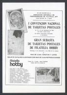 Madrid * I Convención Nacional De Tarjetas Postales 1984* Ed. Filaletia Hobby. Nueva. - Bolsas Y Salón Para Coleccionistas
