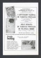 Madrid. *I Convención Nacional De Tarjetas Postales 1984* Ed. Filaletia Hobby. Nueva. - Bolsas Y Salón Para Coleccionistas