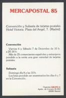 Madrid *Mercapostal 85* Ed. Grupo 4. Circulada. - Bolsas Y Salón Para Coleccionistas