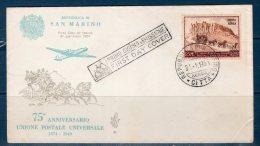 San Marino / San Marin --  1951 -- U.P.U. Air Mail  -- F.D.C.  /  Venezia - FDC