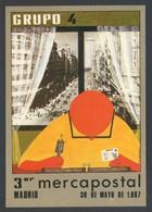 Madrid. *III Mercapostal 1987* Ed. Grupo 4. Postal Nº 169. Ed. De 1000 Ejemplares. Circulada. - Bolsas Y Salón Para Coleccionistas