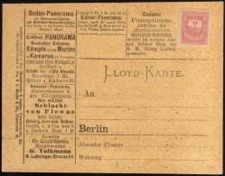 Poste Locale Lloyd, De Berlin, 1885. Panoramas (début Du Cinéma), Sedan, Plewna, Marine. Chaussures Plates - Cinéma