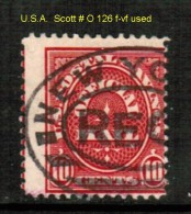 U.S.A.    Scott  # O 126  F-VF USED - Officials