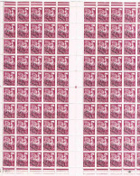 FRANCE  FEUILLES ENTIERES   Preo  N°  112**   X 100 Tbres N°25785  Coin Daté  22 10 58 - Fogli Completi