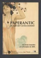 Barcelona *PaperAntic - III Saló Del Col.leccionisme * Circulada 2004. - Bolsas Y Salón Para Coleccionistas