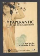 Barcelona. *PaperAntic - III Saló Del Col.leccionisme * Circulada 2004. - Bolsas Y Salón Para Coleccionistas