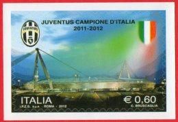 [DC1635] CARTOLINEA - JUVENTUS - JUVE - CAPIONE D´ITALIA 2011-2012 - RIPROD. FRANCOBOLLO - Calcio