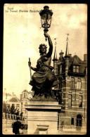 """GAND - GENT - Statue """" Le Travail """", De VANDEN BOSSCHE - """" Het Werk """", Van VANDEN BOSSCHE - Circulé - Circulated - 1909. - Gent"""