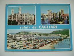 SALUTI  DA  CAGLIARI   SARDEGNA  VIAGGIATA  COME DA FOTO  BOLLO RIMOSSO * - Cagliari
