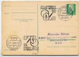 KNEIPP HEILBAD BAD LAUTERBERG Harz 1967 Auf DDR Antwort-Postkarte P 77A - Termalismo