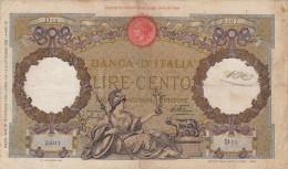 Lire 100 Aquila Romana Fascio Dec. 21/12/1933 Firme Azzolini - Cima Integra E In Buono Stato - [ 1] …-1946 : Kingdom