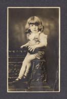 REAL PHOTO CABINET - VRAIS PHOTO POSTCARD - AROUND 1910 -1920 - BEAU GARÇON AU CHEVEUX LONG - PHOTO E. VANDRY QUÉBEC - Photographie