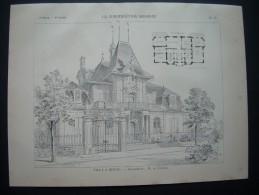 LA CONSTRUCTION MODERNE 1901. VILLA à BERNE ( SUISSE).. Architecte De FISCHER - Architecture