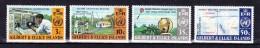 GILBERT & ELLICE ISLANDS  1973  WHO Centenary   Y&T    #  213/6 , Cv  8.50 E  , ** M N H , V V F - Isole Gilbert Ed Ellice (...-1979)