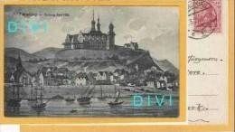 D012, * FLENSBURG  * DUBORG SLOT 1700 Mit SCHIFFE * GESENDET NACH DÄNEMARK 1921 - Flensburg