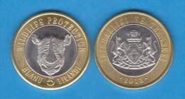VERY RARE!!!!   TRANSKEI  5 LIRANDI 2.013 Bimetálica  UNCirculated   T-DL-10.726 - Monedas