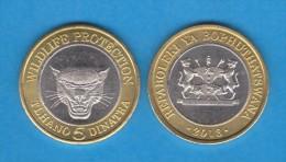 VERY RARE!!!!   BOPHUTHATSWANA  5 DINATRA  2.013 Bimetálica  UNCirculated  T-DL-10.727 - Monedas