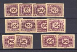 Autriche  -  Taxe  :  Mi  118-31   (*)   Sauf 126 + 129 - Portomarken
