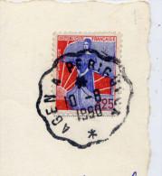 """SUPERBE Cachet à étoile Ambulant """"AGEN à PERIGUEUX""""16-8-1960--cp THONAC--1960--Vue Aérienne Du Chateau De Belcayre-- - Marcophilie (Lettres)"""