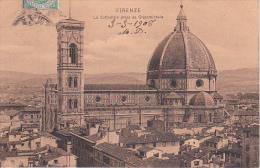PC Firenze - La Cattedrale Presa Da Orsanmichele - 1908 (0543) - Firenze (Florence)