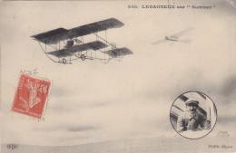 """Cpa: L´aviateur LEGAGNEUX Sur """"sommers""""- Recto/verso Phot. ELD - Aerodrome"""