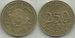 Lebanon, A.D. 2012, 250 Livres - Libanon