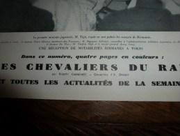 1943 Oeuvres D'ART Normandes En SICILE;Chevaliers Du Rail ;Histoire De La Locomotive Par Les Timbres ; Art Masqué JAPON - Journaux - Quotidiens