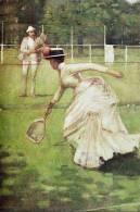 Painting S-t-a-m-p-ed Card Tennis Ball 1275 - Tennis