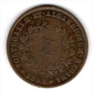 Portugal - X Reis (MARIA II ) 1853 , Cobre -EF - Portugal