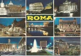 Roma 9 Views  Da Fotocolour Kodak Ekachrome Plurigraf Terni No  424 Unused Front & Back Shown - Roma (Rome)