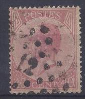 N°20A GESTEMPELD L12 ANVERS ZM/TB/VF USED € 22.00 SUPERBE - 1865-1866 Profile Left