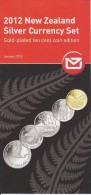 New Zealand 2012 Brochure About Coin Silver Current Set - Mask - Maori Warrior - HMS Endeavour  - Kiwi - White Heron - Materiaal