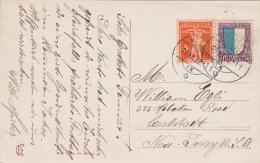 Pro - Juventute  1922 : No  J23 & No 152 Sur Carte Postale De SPEICHER - Lettres & Documents